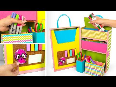 Stylish Cardboard Organizer Bag With Secret Compartments
