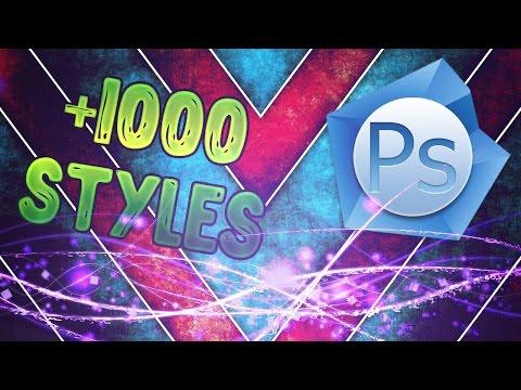 Скачать стили для фотошоп Styles PS +1000 (Стили для фотошоп +1000)