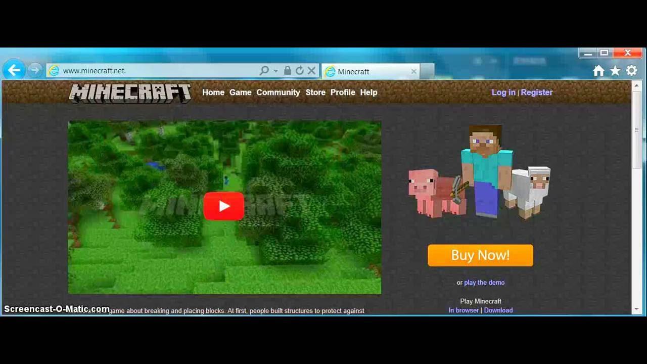 minecraft demo pc game free download