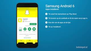 Tips & Tricks - Samsung smartphone: Apps installeren (Android 6)