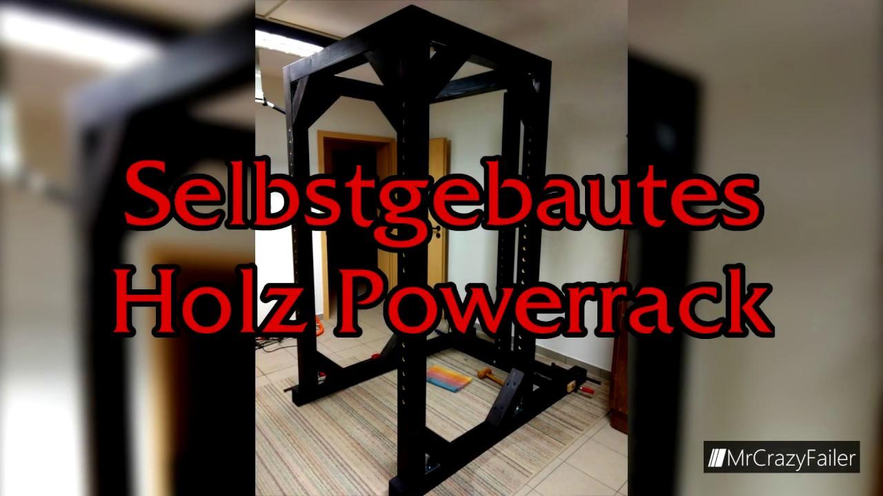 Beliebt DIY Selbstgebautes Holz Powerrack   Teil 1 Rack und Hantelablagen RA07