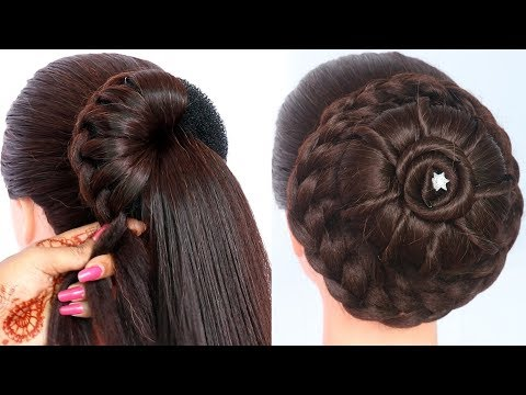 8 easy juda hairstyles for gown, lehenga, & saree || new hairstyle for girls || trending hairstyles thumbnail