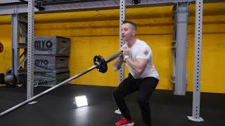Fixed Barbell Goblet Squat