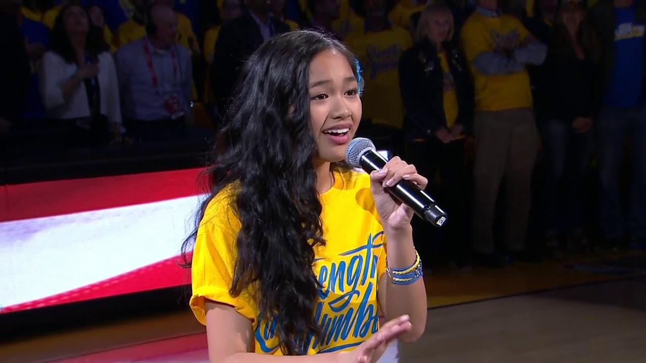 Nayah Damasen Electrifies Oracle Arena With National Anthem Game 1 2018 Nba Finals Youtube