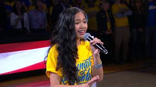 Nayah Damasen ELECTRIFIES Oracle Arena With National Anthem | Game 1 2018 NBA Finals