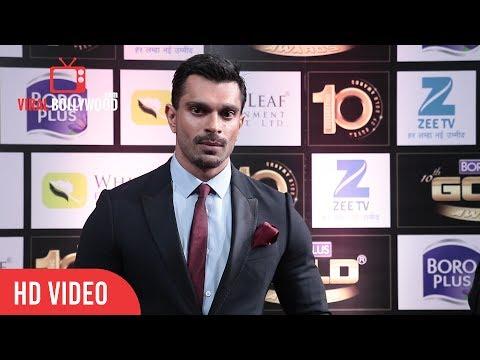 Karan Singh Grover At BoroPlus 10th Gold Awards 2017  Zee TV