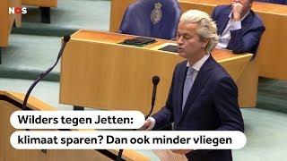 KLIMAAT: Ga zelf ook minder vliegen, zegt Wilders tegen Jetten