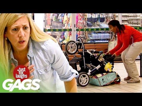 Strangers Accidentally Flip Baby Stroller