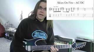 Wie spiele ich eigentlich...Skies On Fire von AC/DC?