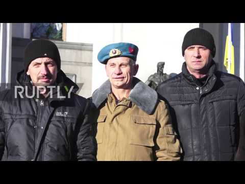 Ukraine: War veterans protest possible cutting of benefits in Kiev