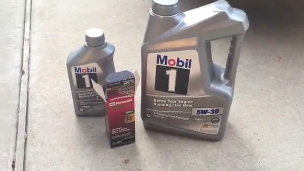 F150 ecoboost oil change youtube for Motor oil for ford f150