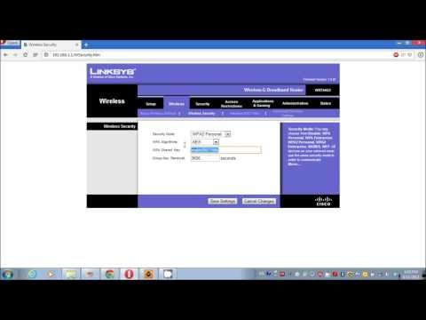 How To Change Security Word On Linksys Router