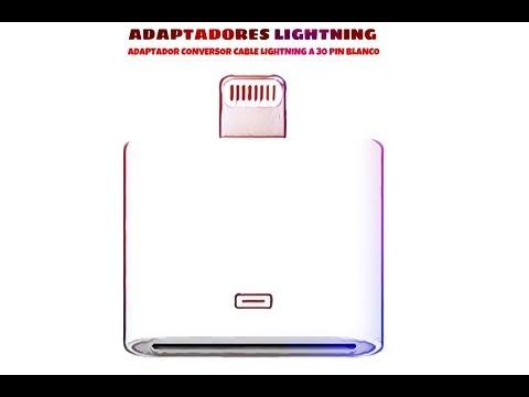 Video de Adaptador conversor cable Lightning a 30 pin  Blanco