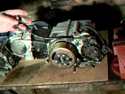 110cc Engine Wiring Diagram Electric Motorcycle Honda C90 110 Cc 107 Chinese Engine Change Youtube