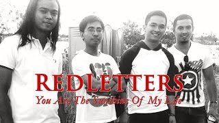 Red Letters - You Are The Sunshine of My Life (cover) lyric video