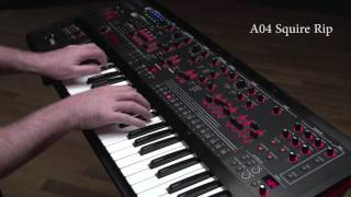 Roland JD-XA Synthesizer Ver.1.50 Preset Sound Examples: A04 Square Rip