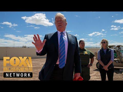 Trump visits the US-Mexico border wall in Calexico, California