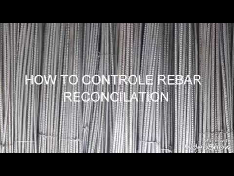 How To Controle Rebar Reconciliation / How To Control Rebar Wastage
