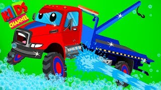 Tow Trucks Car Wash By Kids Channel Cartoon s For Childrens
