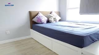 Không gian sàn gỗ đẹp với sàn gỗ QuickStep.