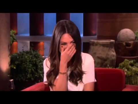 Mila Kunis Blushes over Ashton on The Ellen Degeneres