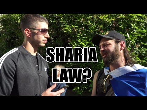 Squatting Slav TV vs. Sharia Law Rally (See Below)