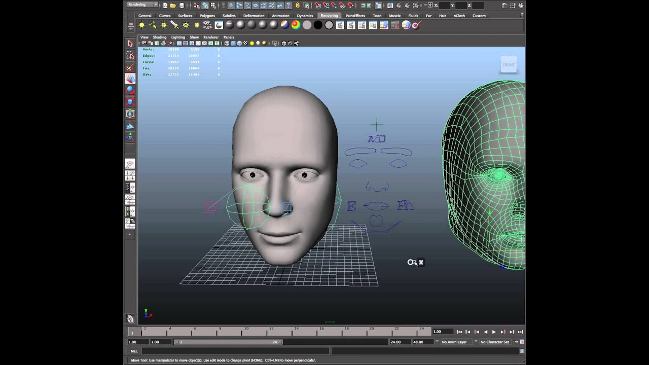 Attaching The Auto 3d Avatar To The Maya Animation Rig Youtube