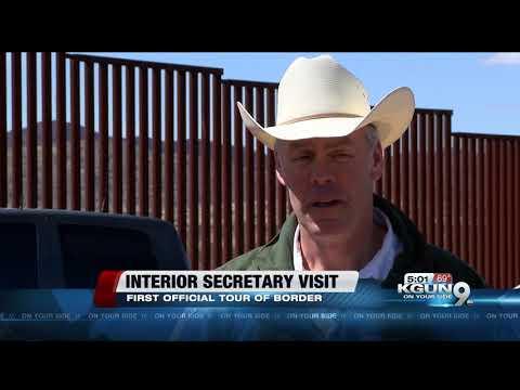US Secretary of the Interior visits the Arizona border