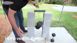 HDPE vs PVC vs Foam Resin Thread Pull Test