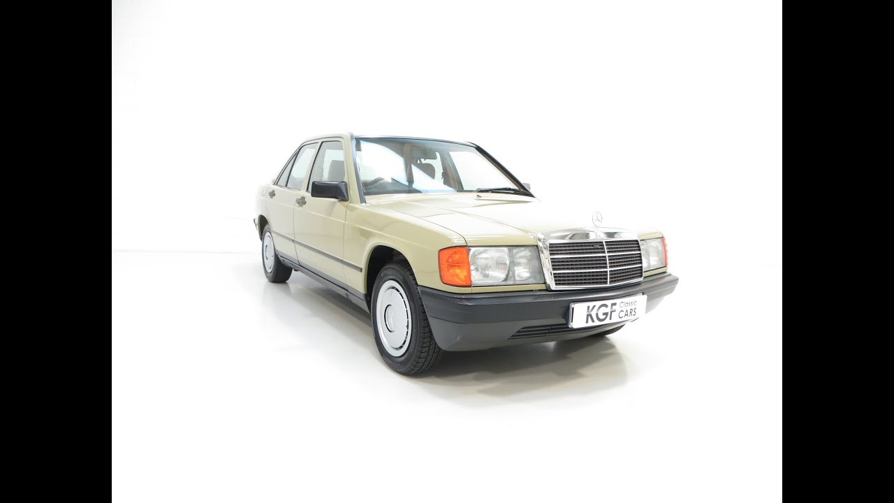 A First Class Mercedes Benz 190E W201 Auto with Full History and