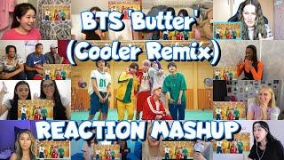 BTS (방탄소년단) 'Butter (Cooler Remix)' Official MV reaction mashup