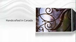 LUSSO GLASS - wrought iron door inserts