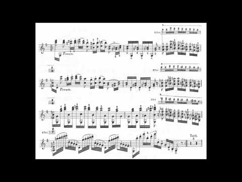 Paganini, Niccolò Variations on God save the Queen op.9 violin solo