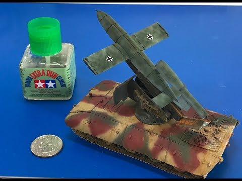 Building the 1/72  E100 V1 launcher from modelcollect , complete step by step build
