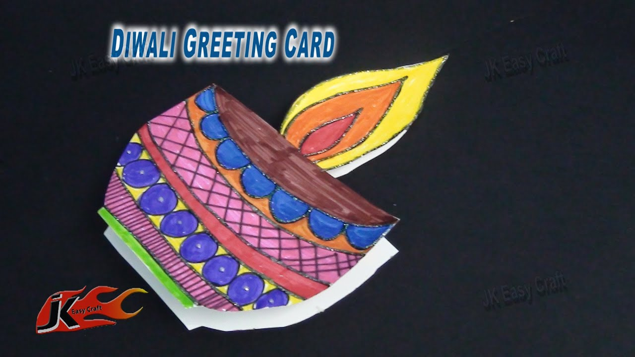 Diy diwali greeting card school project for kids how to make diy diwali greeting card school project for kids how to make jk easy craft 077 kristyandbryce Gallery