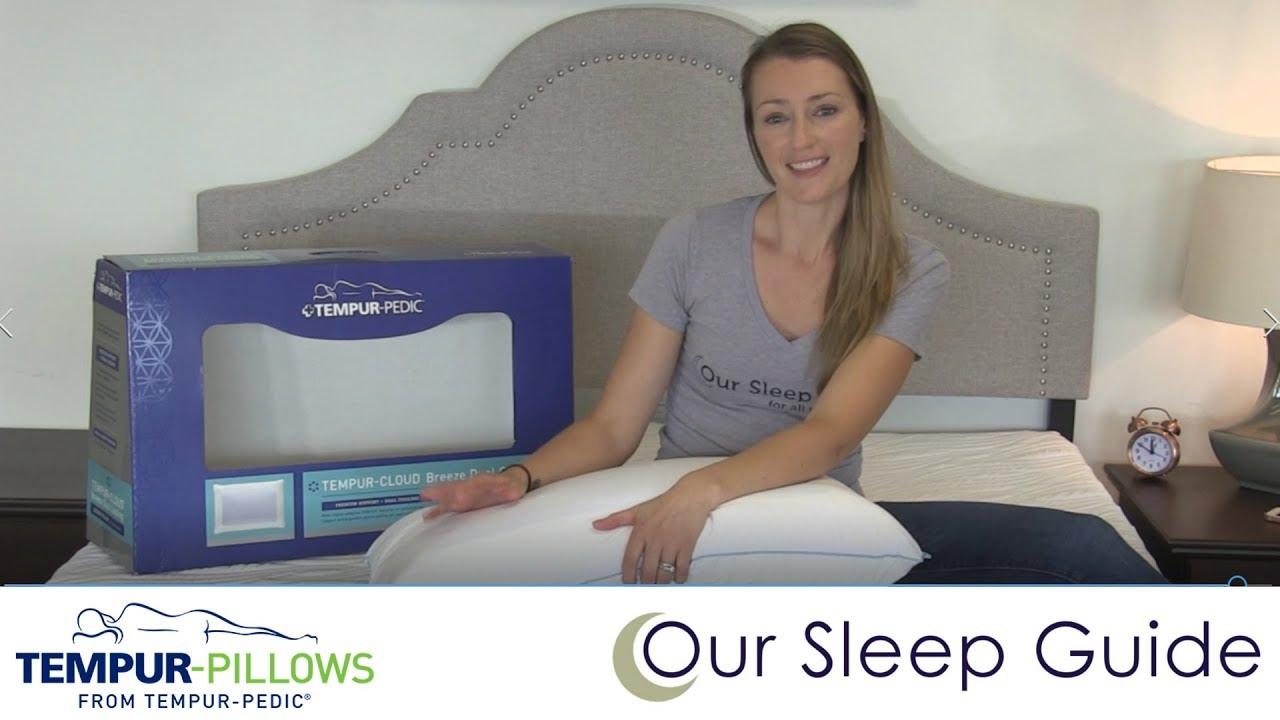 tempurpedic tempur cloud breeze dual cooling pillow review