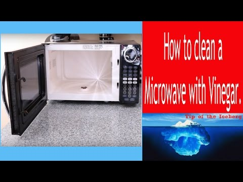 How To Clean Microwave With Vinegar Sanitize And Removes Odor Little Effort
