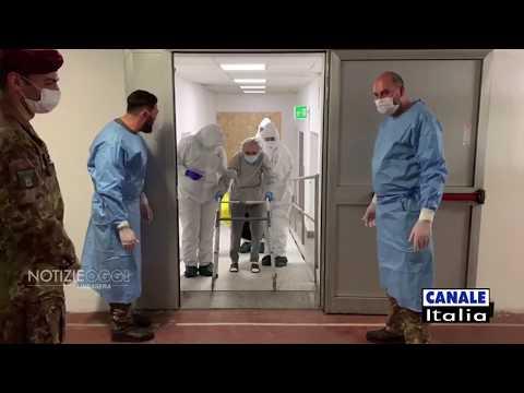 """Coronavirus, dentro l'ospedale militare di Milano: """"Reparto Covid per civili costruito in 10 giorni"""""""