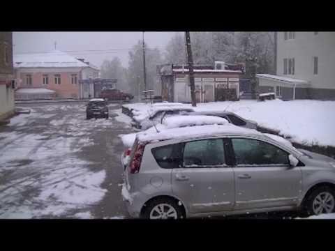 11 мая в Вязьме выпал снег!