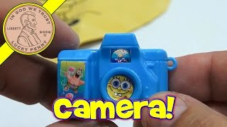 SpongeBob SquarePants Toy Lot - Bubbles, Whoopee Cushion & Camera!