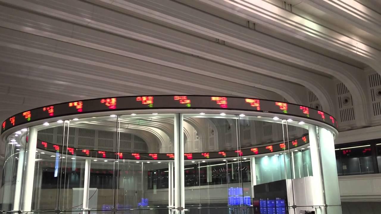 東京証券取引所 電光掲示板(ティッカー) 2015/05/26 - YouTube