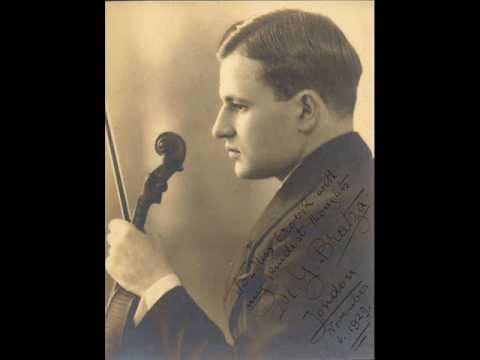 Yovanovitch Bratza, violin - Tchaikovsky: Chanson Triste