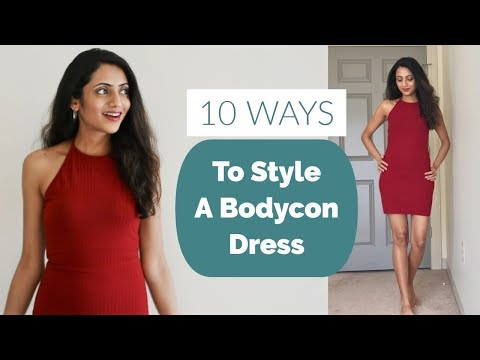10 Different Ways To Style A BODYCON DRESS | 1 Dress 10 Styles | Himani Aggarwal