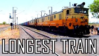One of INDIA's Longest Trains ! 1.3 Km long INDIAN RAILWAYS with 3 locomotives 92 wagons !