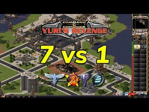 Red Alert 2 - Playing As Yuri - 7 vs 1
