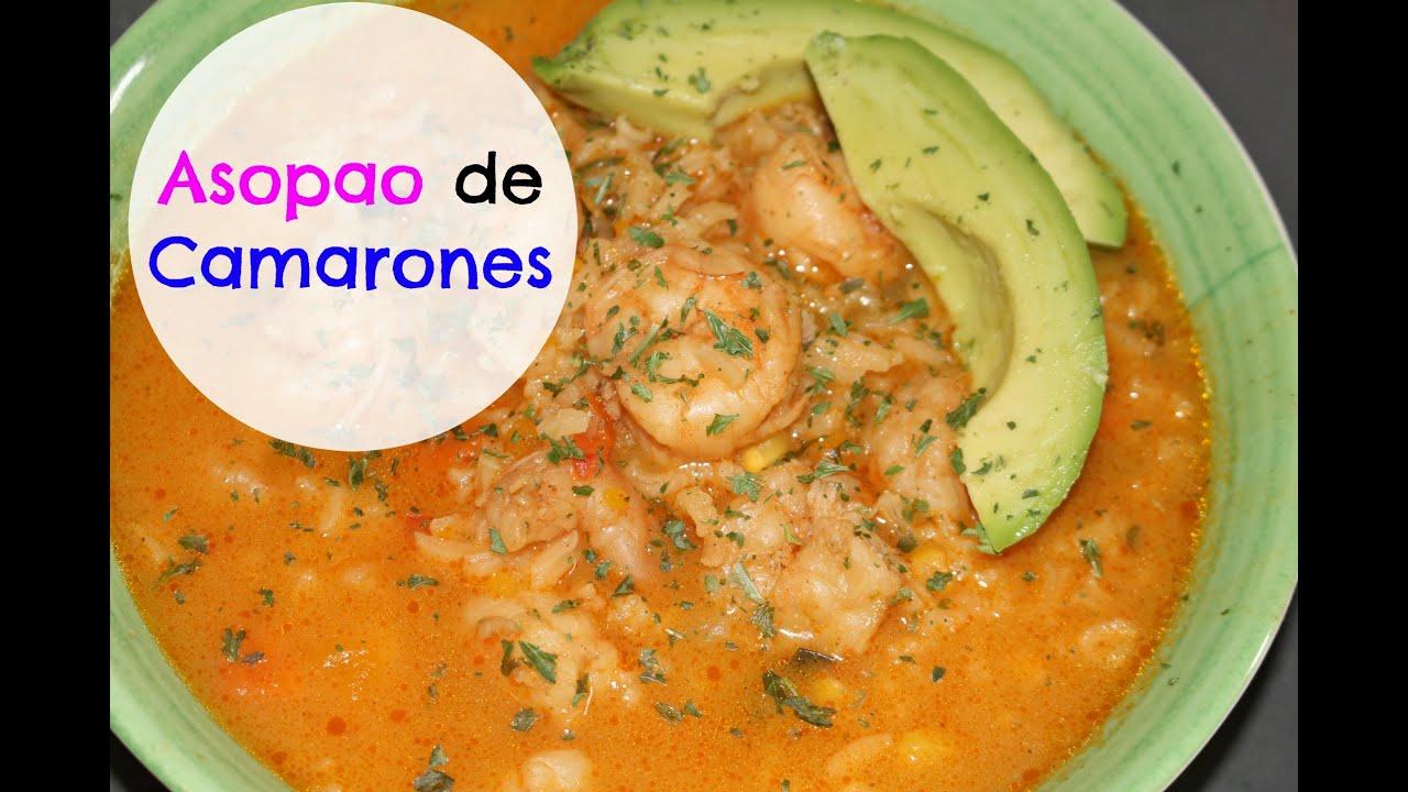 Asopao De Camarones Cocinando Con Ros Emely Youtube