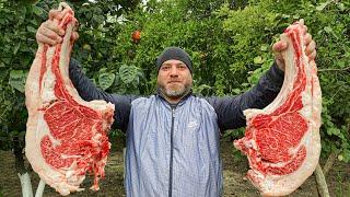 Нежнее мяса не бывает Сочный стейк приготовленный в фольге на костре. Удивительное блюдо