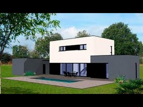Minecraft tuto maison moderne 1 2 youtube for Modele maison minecraft