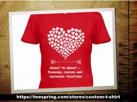 Red Heart Valentine T Shirt | Valentineu0027s Day T Shirt Design   YouTube
