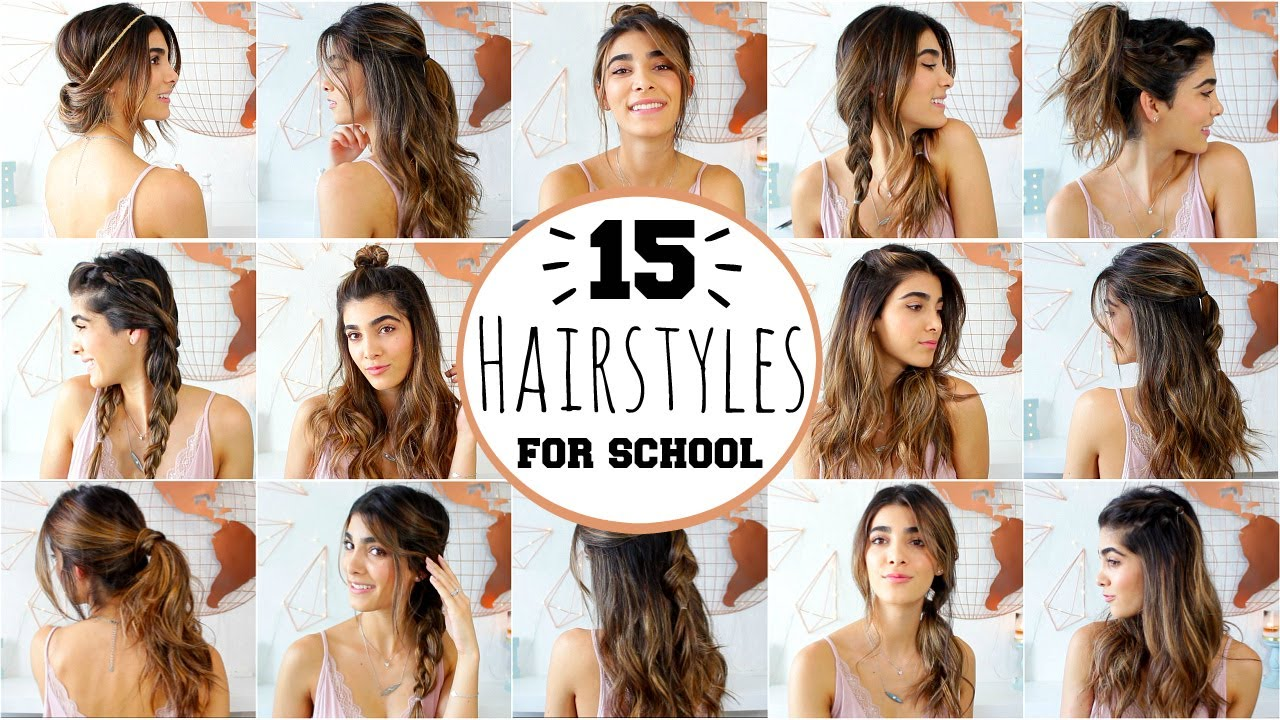 Hair Styles For Summer: 15 HEATLESS HAIRSTYLES FOR SCHOOL